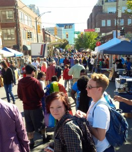 Visitors packed Trade Street Sunday to see artistes and listen to music for the Arts on Sunday Festival Series. Courtesy of the AFAS Group.