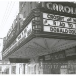 """Marquee displaying """"Crosby & Hope's """"Road to Rio"""""""