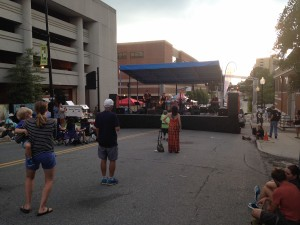 Clay Howard and the Silver Linings perform on 6th Street.
