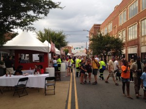 Hundreds of people came to Trade Street to enjoy to local food and craft beers.