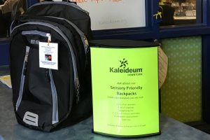 Sensory friendly backpacks available at the front desk.
